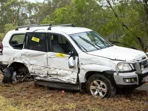 PHOTOS: Car smashed in Gladstone 'T-bone' crash