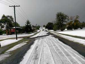 Killarney looks like Canada in winter after hail storm
