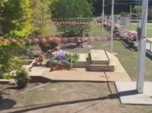 Girl dies after war memorial falls on her.