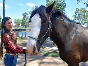 Jess Pollard and her horse Angel. The pair will start a new tourism venture shortly called Copperfield Heritage Horse and Pony Hire.