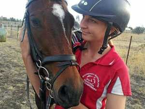 Dalby showjumper Dominique Holtkamp spends time training with her horse, Life to the Max.