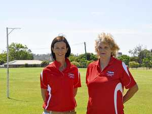 GAME-CHANGER: Pittsworth and Districts Wildcats netball club committee member Belinda Saal (left) and president Deb Farrell on the club's soon to be renovated grass courts.