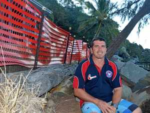 Eimeo Surf Lifesaving Club deputy president Duncan Stanford wants government bureaucracy to end so a damaged rock wall can be fixed before another person is injured.