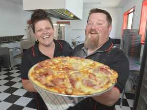 HOT STUFF: The new pizza shop at the 'Top of Town' sold more than 100 pizzas in their first two days of trading.