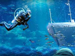 Artists impression of the proposed HMAS Tobruk proposed dive site. Photo: contributed