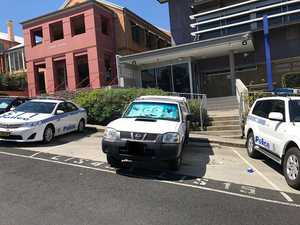 Parking fail: Driver illegally parked outside police station