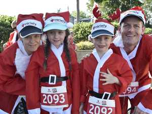 The Douglas family, from left Melody, Arwen, Elijah and Earle Douglas. Second annual Santa Run . December 4, 2016