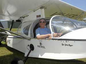 Jack Peters of Melbourne who came to Grafton with his sea plane, The Jolly Roger.