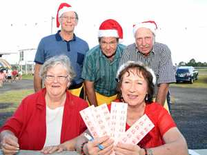Plenty of hands on deck selling tickets and helping out at the Marburg Christmas Carnival.