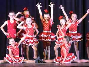 The under 8 jazz troupe at the Studio 1 Dance Academy concert