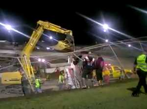 VIDEO: Massive crash takes out fence at Speedway