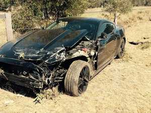SPUN OUT: The car that was involved in an incident on the Burnett Hwy.