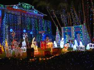 Christmas lights at  a Banora Point home last year.
