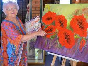 SPLASH OF COLOUR: Painter Elizabeth Browne dream is to set up a more established art space in Gatton.