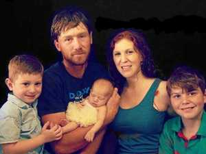 IN IT TOGETHER: Rowan and Kristie Hammermeister with newborn daughter, Claire, and sons Izac (left), 3, and Brock (right), 11.