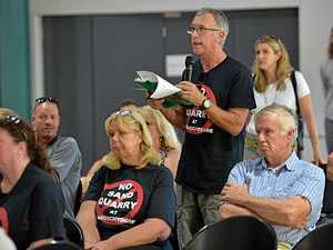 Public meeting for the proposed sand mine at Maroochydore last week.