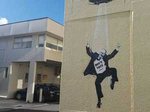 Is Banksy in New Zealand taunting John Key?