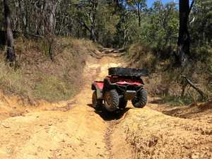 Darryl McEvoy says it's now too dangerous to drive his quad bike along his fence line.