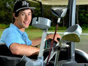 INSPIRATIONAL: Cody Laskey may suffer from spina bifida but that doesn't stop him on the golf course.