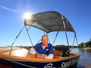 Mark Planck, owner of Swan Boat hire at Maroochydore. Photo: Cade Mooney / Sunshine Coast Daily