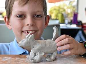 HANDS ON: Get the chance to create your own clay animals at the Gympie Regional Gallery.