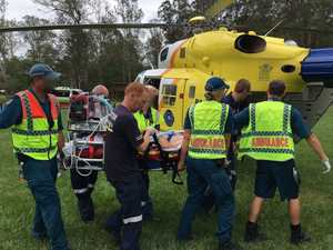 Serious hinterland crash leaves motorcycle rider critical