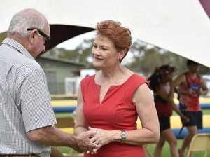 Pauline Hanson in Oakey