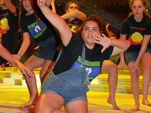 Dakota Mundine of South Grafton High School dances at the Schools Spectacular in Sydney.