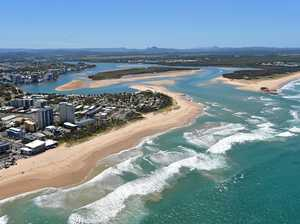 Aerials of the Sunshine Coast taken on Thursday 23 October, 2014 for advertising feature: Maroochydore area. Mouth of the Maroochy River. Photo: Brett Wortman / Sunshine Coast Daily