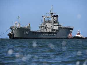 Tobruk enters Bundaberg Port