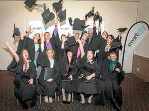 HAPPY DAYS: SmartCity Graduating class celebrate.