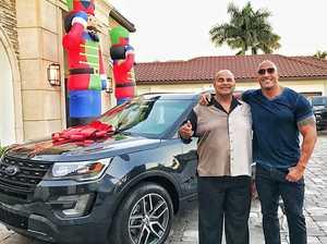 Dwayne Johnson bought his dad a car