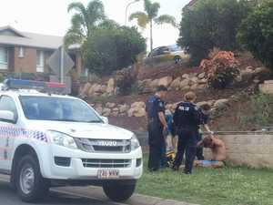 Man on Gladstone road with bloodied head, police search streets