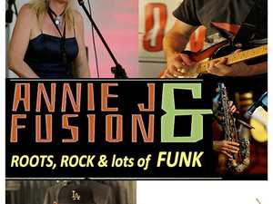 Annie J & Fusion mix up funk, rock and reggae into a unique dance groove that can evoke serious thought or laughter and will make you feel happy inside