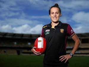 Emma Zielke reacts to being named Brisbane Lions captain