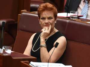 Pauline Hanson fires up over burqa ban question