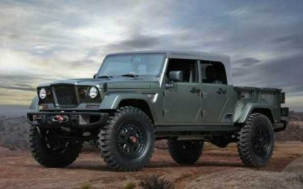 CONCEPT: The Jeep Crew Chief 715 Concept hints at what Jeep's new confirmed pick-up may look like.
