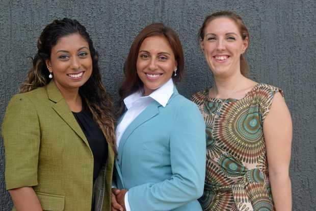 TEAM: Whitsunday Health Clinic director Rowena Kissun, acupuncturist Francesca D'Cruz and osteopath Joanna Addy.