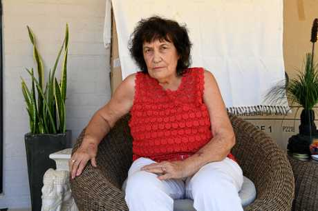 KILLER DOGS: Ruth VonBulow-Bauer looked out her window on Sunday morning and saw her cat Lockie dead on the lawn.