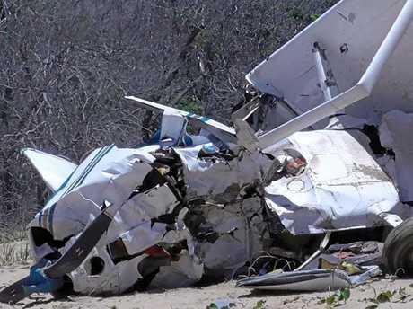 JOY FLIGHT: Tourist plane crashed at Middle Island today.