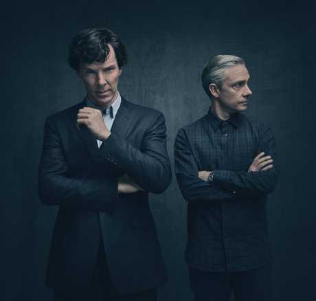 Benedict Cumberbatch and Martin Freeman star in season four of Sherlock.