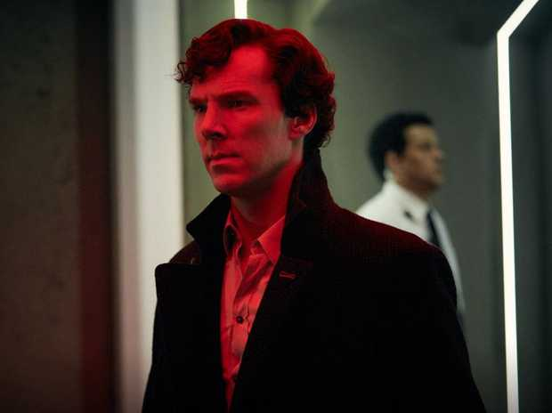 Benedict Cumberbatch in a scene from the season four finale of the TV series Sherlock.