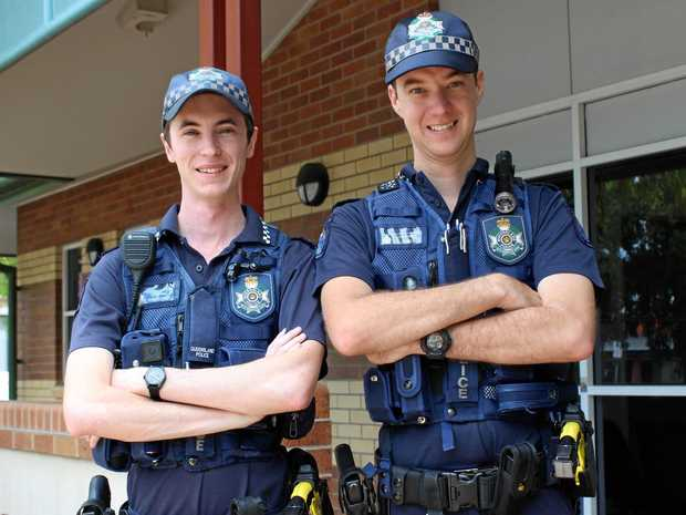 POLICE ON THE STREET: Constable Ryan OGrady and Constable Michael Lynn.