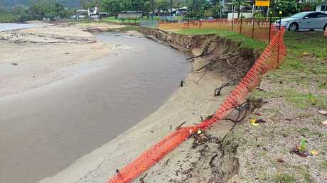 Cannonvale Beach suffered erosion due to the intense rainfall over the last week.