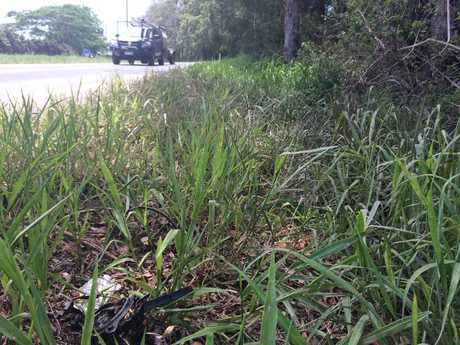 A few crash remnants are all that remain at the scene of a fatal impact with a tree beside Peachester Rd at Beerwah.