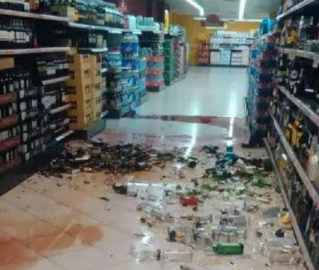 The aftermath of the attack. Picture: TwitterSource:Supplied