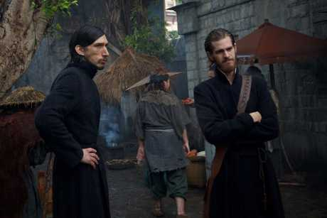 Adam Driver and Andrew Garfield in a scene from the movie Silence.