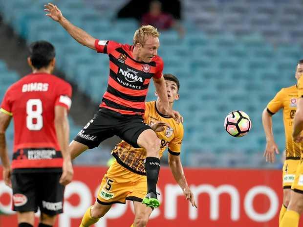 FULL FLIGHT: Western Sydney midfielder Mitch Nichols says his team can knock over Sydney.