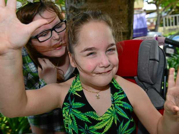 HELPFUL: Becky Bonaccorsi and Kaitlyn Spraggon use medicinal marijuana.