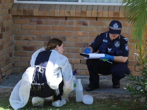 Police investigate one of the eight sex attacks suspected to have been committed by the man dubbed the night stalker.